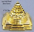 24Ct GOLD PLATED ENERGIZE PANCHDHATU 3D MERU SHREE CHAKRA SRI LAKSHMI