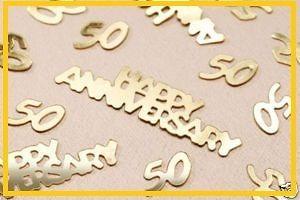 50th GOLD WEDDING ANNIVERSARY CONFETTI DECORATION