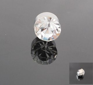 PICK 4PairBlack or Clear Crystal Magnet Earring Unisex Mens Earring