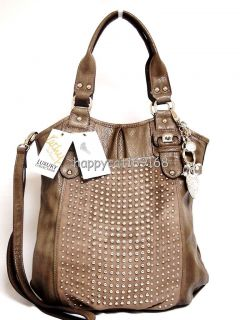 Kathy Van Zeeland Handbag Stud Finder Shopper Mushroom ka 3504