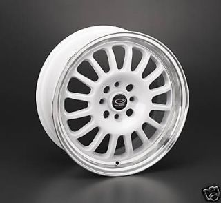 15 ROTA TRACK R WHITE RIMS WHEELS 15x7 +40 4x100 CIVIC INTEGRA MINI