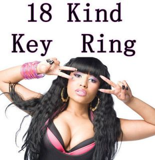 1PC Nicki Minaj Keychain Bag Charm Tag Key Ring Fans Gift