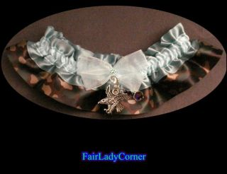 Camo Blue 1 wedding bridal garter prom party gothic gift favor select