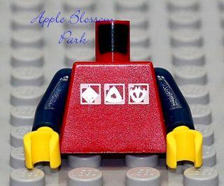 Army Birthday Cakes on New Lego Girl Boy Minifig Red Torso W Pattern