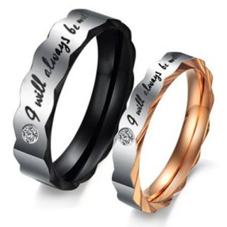 Fashion lace Titanium Steel Promise Ring Couple Wedding Bands Lover