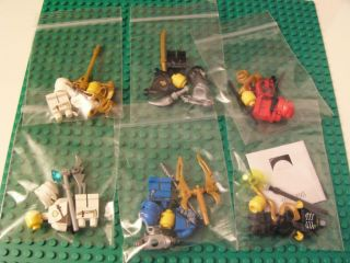 LEGO Ninjago Minifigures: NRG Jay, Cole ZX, Kai ZX, Jay ZX, Zane ZX