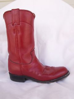 Justin Cowboy Boots Ropers Red Ladies sz 5 C NICE Style # L 3055