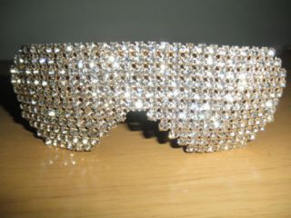 NEW SWAROVSKI RHINESTONE SNOOKI LADY GAGA CELEBRITY SUNGLASSES AVATAR