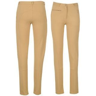 Girls BHPC Horse Riding Lightweight Jodhpurs Pants   Beige   Ages 7 to