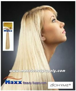 Bohyme Gold Remy Human Weave Hair Machined Tied   Silky Straight 22