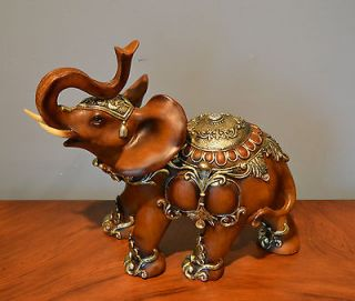 Beautiful Hand Painted Qualit y Elephant Statue Figurin e Sculpture La