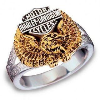 FRANKLIN MINT Harley Davidso n Ladies Eagle Ring Sterling Silver