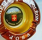 ASHTRAY CHATELLE NAPOLEON VSOP COGNAC Whisky Beer Pub Amber Glass 10cm