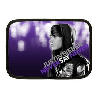 NEW Justin Bieber Never Say Never 10 Netbook Laptop iPad Case Sleeve