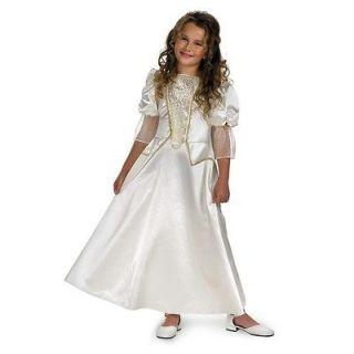ELIZABETH SWANN Child White Dress Costume 7 8 Pirates Of The Caribbean