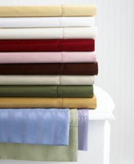 DAMASK STRIPE Two King Pillowcases 500 CT color Tea Rose