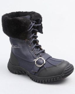WOMENS NAVY BLUE APPLE BOTTOMS MID CALF BOOTS WARM 6 6.5 7 7.5 8 8.5 9