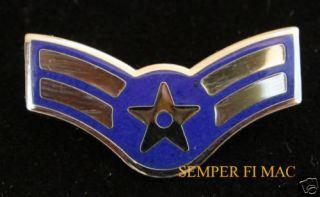 AIRMAN FIRST 1ST CLASS E 3 US AIR FORCE HAT PIN RANK