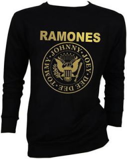 Gold Foil Ramones Joey Punk Rock Sweater Jacket S,M,L