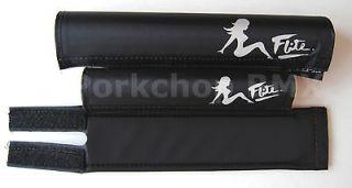 FLITE BMX foam padset pads   MUDFLAP CHICK & 80s LOGO   BLACK **MADE