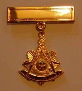 Masonic Past Masters Pendant with Engraving Bar PM2 PB