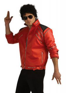 Adult Michael Jackson Costume Beat It Red Zipper Jacket