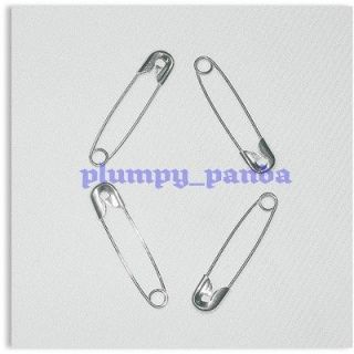 45mm silver tone 100 large safety pins 1 3/4 #3 fastener nappy diaper