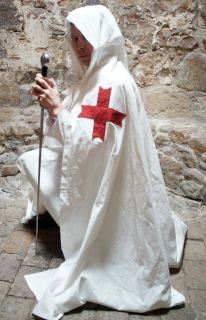 Medieval/LARP/SCA/Re enactment/Teutonic Knights TEMPLAR CLOAK with red