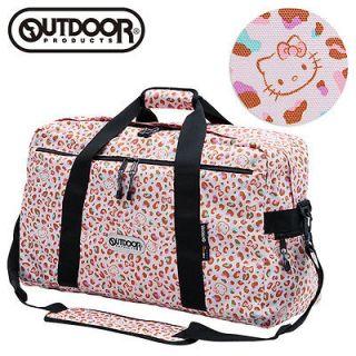 NEW Hello Kitty x OUTDOOR Boston Overnight Travel Bag Leopard Pink