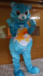 New Professional Care Bear Cartoon Suit Mascot Costume Adult Size
