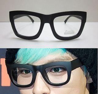 Super Oversized Black Thick Bold Full Rim Eye Glasses Glossy Black