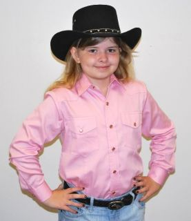 NEW! CHILDS KIDS Western Show Shirt PINK S M L XL