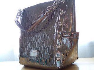 Luxurious MICHAEL KORS ♥Nickel♥ Metallic Delancy Lg Shoulder Tote