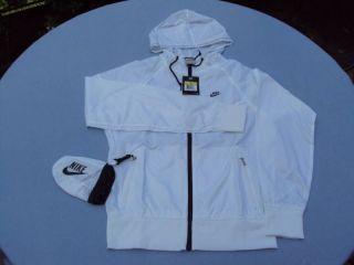 New Nike Summerized Windrunner Zipper White Men