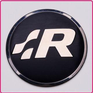 VW R Line Steering Wheel Badge BLACK Logo Sticker Emblem GTI