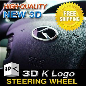 3D K LOGO Steering Wheel Emblem Badge Fit KIA 2010   2012 SORENTO R