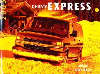 2003 Chevrolet Chevy Express Van 10 page Dealer Canada Sales Brochure
