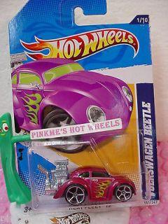 CASE Q 2012 i Hot Wheels VOLKSWAGEN BEETLE #151★New MAGENTA Pink VW
