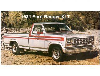 1981 Ford Ranger XLT Truck Refrigerator / Tool Box Magnet