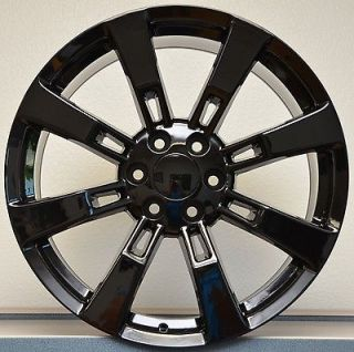 Gloss Black GMC Denali Escalade Sierra Yukon Tahoe Wheels Rims Set