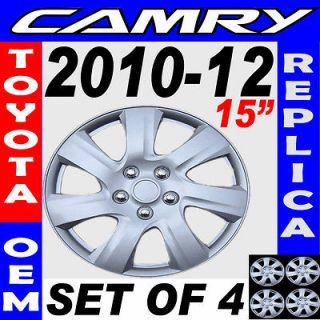 Piece Set Fit Silver ABS 2010 2011 2012 TOYOTA CAMRY 15 Wheel Cover