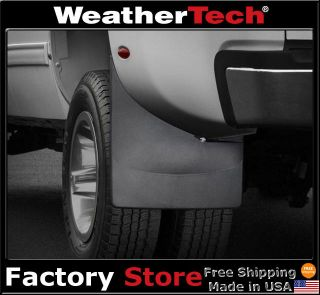 WeatherTech® No Drill MudFlaps   Chevy Silverado Dually   2008 2013