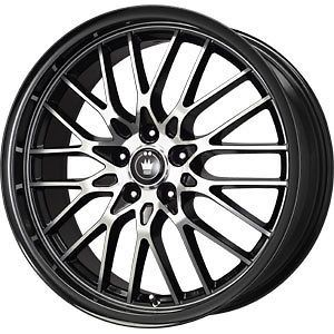 New 17X7 4x100/4x108 KONIG Lace Black Wheels/Rims
