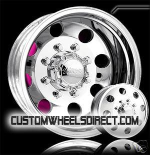 Ultra Wheels 02 Dually 8x6.5 17x6.5 Polished Chevy GMC Dodge Free