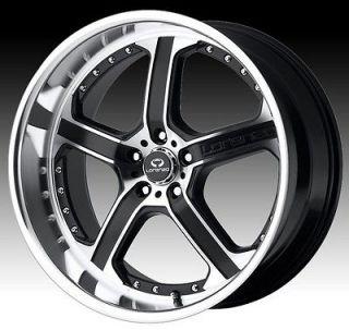 20 inch staggered lorenzo WL021 black wheels rims 5x112 +32