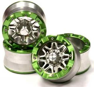 Billet alloy 2.2 Beadlock wheels 4pcs, ax10, wraith creeper hpi 1/10