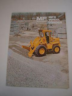 Massey Ferguson MF 11 MF11 Front End Wheel Loader Tractor Brochure