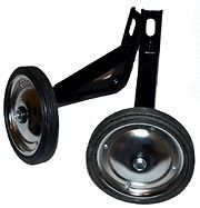 listed Bicycle Training Wheels For 16 Bikes   Black With Steel Wheels