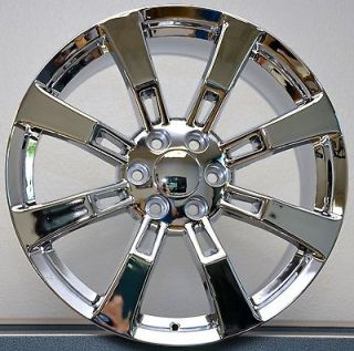 22 22x9 Chrome GMC Denali Escalade Sierra Yukon Tahoe Wheels Rims Set