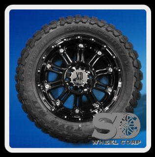 20 WHEELS RIMS XD795 HOSS GLOSS BLACK WITH 33X12.50X20 TOYO OPEN